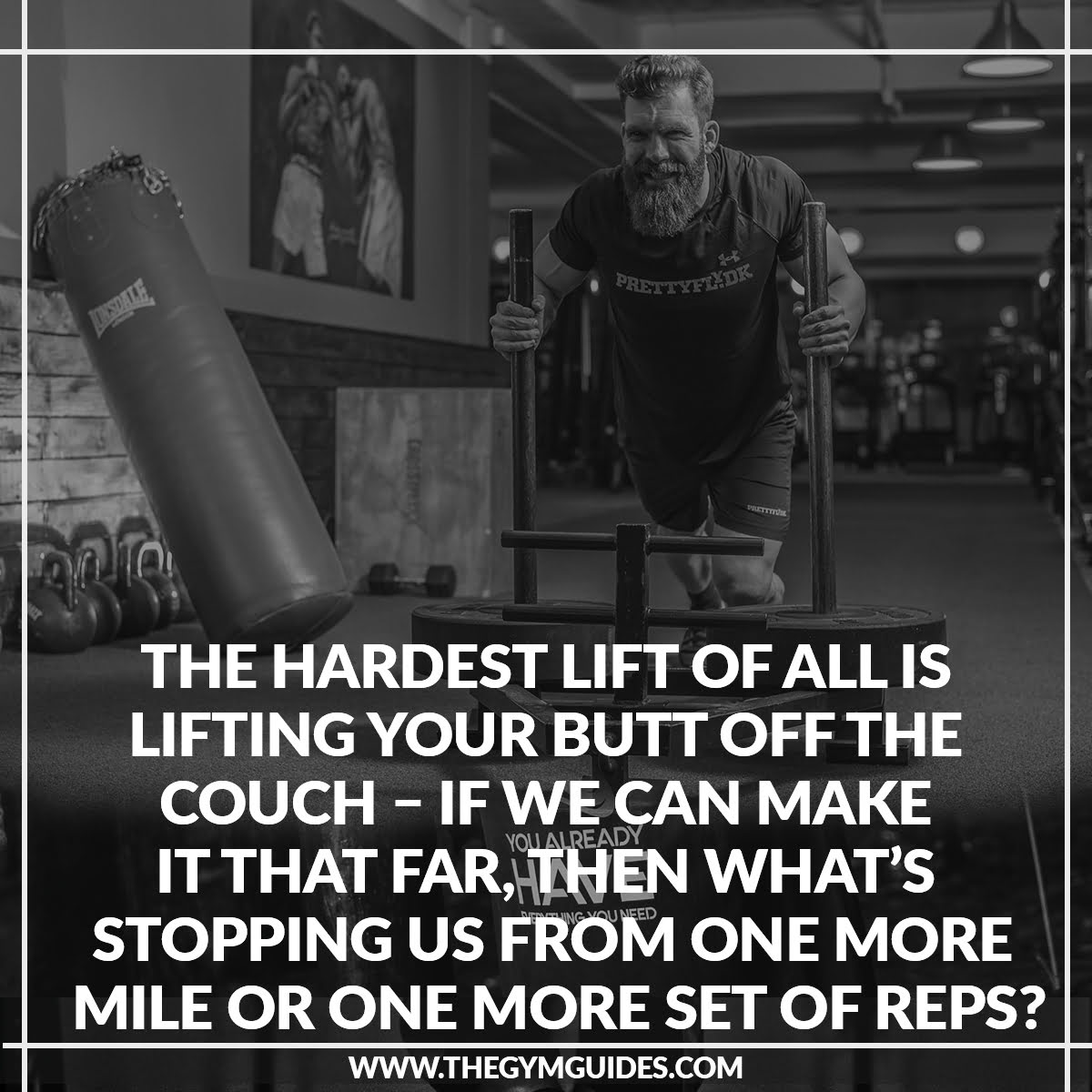 The HARDEST Lift of All is Lifting your BUTT Off the Couch – if we can make it that far, then what's stopping us from one more mile or one more set of reps